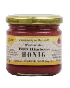 Bio Honig mit Himbeeren 250g