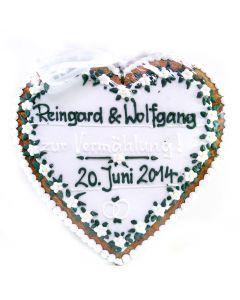 Lebkuchenherz Hochzeitstraum 30cm